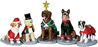 Lemax Village Collection Costumed Canines Set of 5 # 32126 by Lemax Village Collection