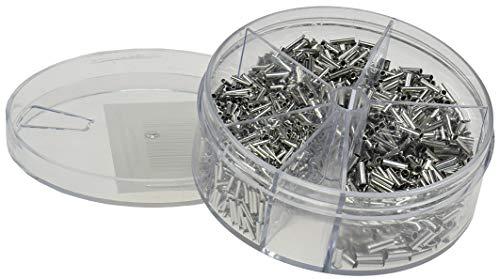 Preisvergleich Produktbild Aderendhülsen-Sortiment 1900teilig / 0, 5-2, 5mm² unisoliert / in Streudose / 5 Größen