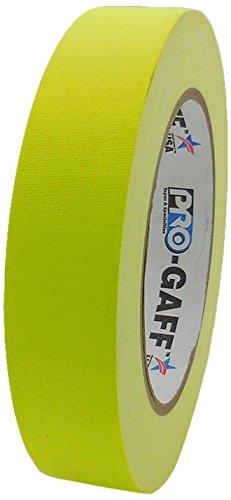 Pro-Gaff RS127YE24X25 Gewebeband, fluoreszierend, matt, 24 mm x 23 m Einzeln S fluoreszierendes gelb