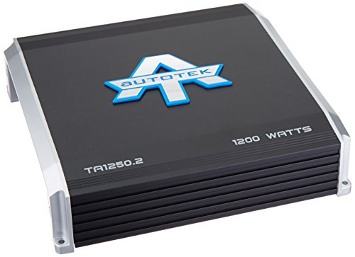 Autotek TA1250.2 TA Series 2 Channel Car Audio Amplifier (Black) – Class A/B Amp, 1200 Watt, Bass Boost, Marine Grade Protection Amplifier
