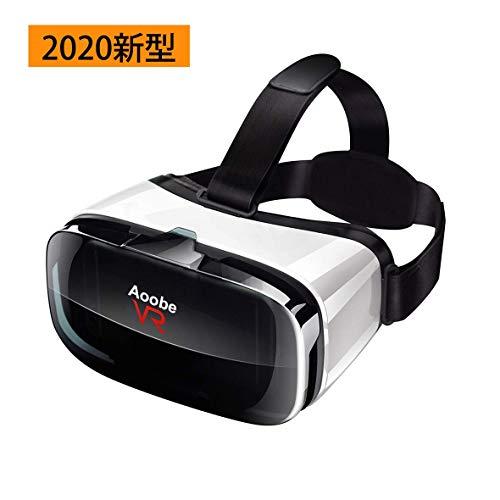 【令和2年VRゴーグル】 Aoobe VRゴーグル 3Dゲーム 映画 動画 瞳孔/焦点調節 非球面光学レンズ 1080PHD高画質 近視適用 放熱性よい 120°視野角 着け心地よい 4.0~6.5インチiPhone& android などのスマホ対応 日本語説明書付