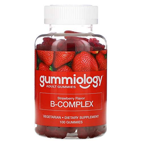 Gummiology B Complex Gummies, Strawberry Flavor, 100 Gummies