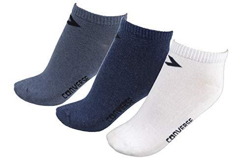 Converse Herren Socken Low Cut 3er Pack Füßlinge 39-42 Mehrfarbig E217C-3010