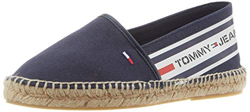 Tommy Jeans Damen Chunky Tape Espadrille Pumps, Blau (Twilight Navy C87), 39 EU