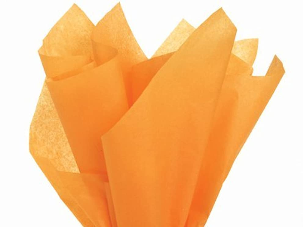 ShipGuard Premium Quality Gift Wrap Paper for Gift Wrapping Paper Crafts, Packing, DIY Crafts and more. | Tangerine Light Orange | 20