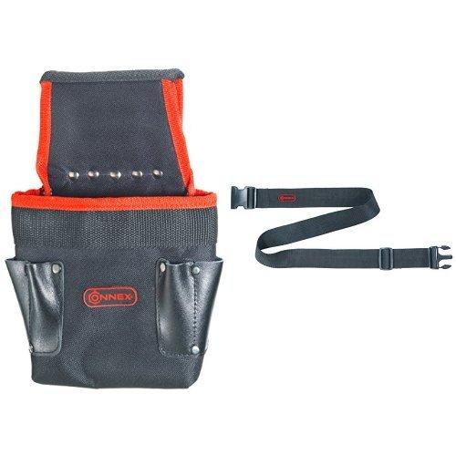Connex Nagel- und Werkzeugtasche, 5 Fächer, COX952079 + Connex Werkzeuggürtel verstellbar Nylon,...