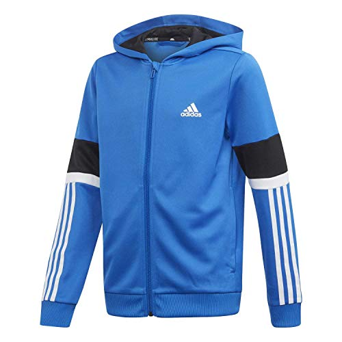adidas Performance Equipment Kapuzenjacke Kinder blau/weiß, 152