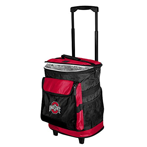 Logo Brands NCAA Ohio State Buckeyes Unisex Adult Rolling Cooler, Red, One Size