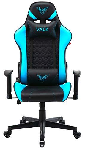 VALK NYX - Silla Gaming Oficina Diseño Ergonómico Ajustable Reclinable (Azul)
