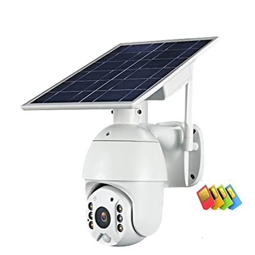 Cámara 4g sim Tarjeta 108 0p HD Monitoreo al Aire Libre del Panel Solar CCTV Cámara Inteligente Inicio Decla de intrusión Dwa-Way Intrusion Long Standby