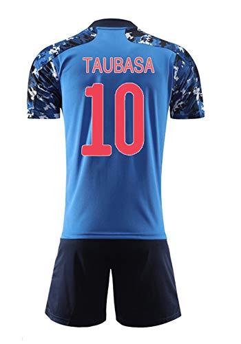 FRESHC Fußball-Trikots Team-Set, Captain Tsubasa Anime Special Edition Jersey, Erwachsene und Kinder 2020 Japan-Team mit kurzen Hülsen-Gedenkausgabe Fußball-Jersey-Klage Tsubasa 10-S