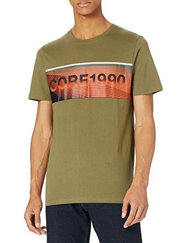 Jack & Jones Jcojenson tee SS Crew Neck Camiseta, Deep Lichen Green/Fit: Slim, L para Hombre
