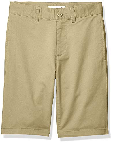 Amazon Essentials – Pantalón corto para niño, Caqui, US 10 (EU 134-140 CM, S)