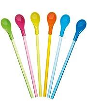 KitchenCraft Plastic Lepelrietjes, 23,5 cm (Set van 6), Multi/Kleur, 32x10,5x2 cm