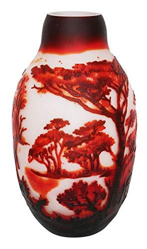 aubaho Vase Replika nach Galle Gallé Glasvase Glas Antik-Jugendstil-Stil Kopie m