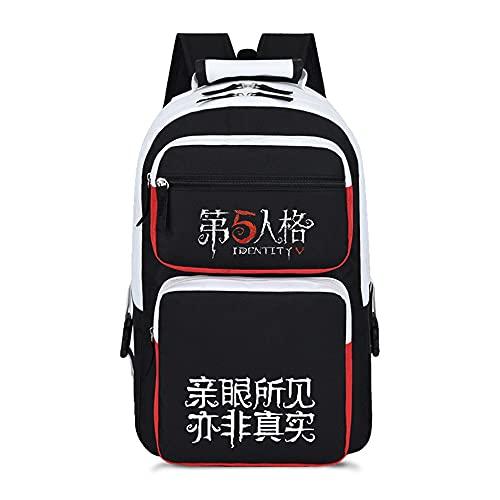 WOONN Mochila Hombre Backpack Niños Y Niñas Adolescentes Mochila Escolar Moda Mochila para Portátil Mochila para Portatil Anime Viaje Negocios Bag Backpack 5th Personality