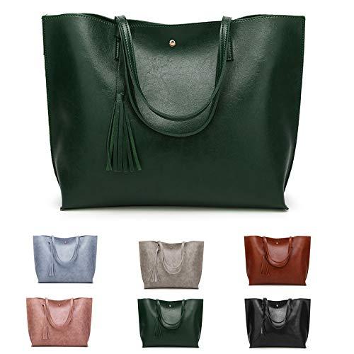 ZhengYue Bolsos Mujer Hombro Grande Bolso Bandolera Shopper Bolso de Mujer de PU Cuero para Las Damas Bolso de Mano Bolso Señora Tote Bag Shopping Bags