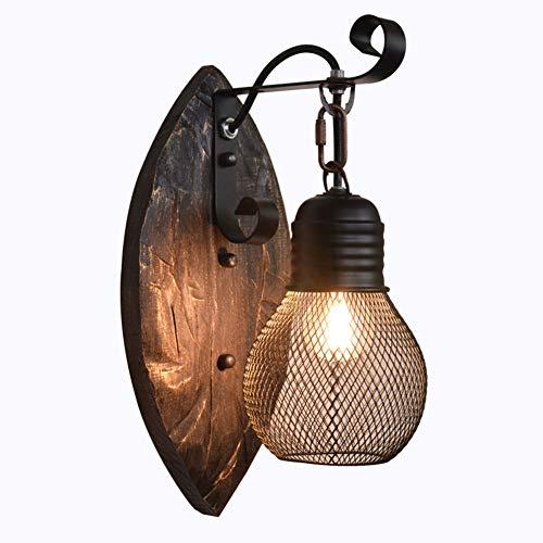 ER-JI Madera sólida lámpara de Pared de la Personalidad Creativa Estilo Industrial Retro, Restaurante lámpara de Pared del Pasillo café Bar