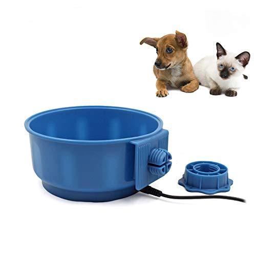 PETLESO Pet Heating Bowl, USB Portable Pet Crate Heating Water Bowl for Dog, Cat, Bird, Chicken Indoor Bowl, 600ML(20.5OZ)
