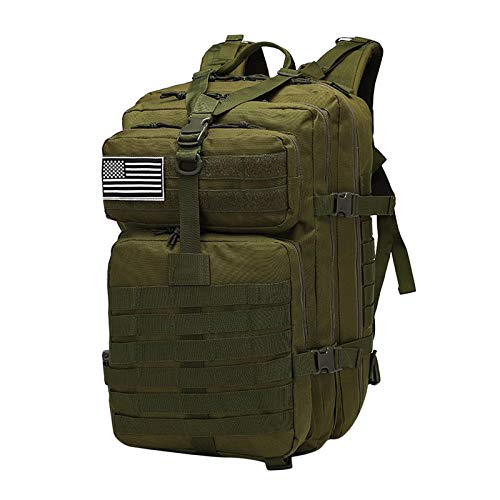 50L Military Tactical Backpacks Molle Army Assault Pack 3 Day Bug Out Bag Hiking Treeking Rucksack - Green