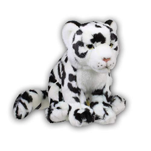 WWF WWF00045 Plüsch Schneeleopard Soft, realistisch gestaltetes Plüschtier, ca. 19 cm groß und wunderbar weich