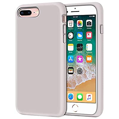 """Anuck iPhone 8 Plus Case, iPhone 7 Plus Case, Soft Silicone Gel Rubber Bumper Case Microfiber Lining Hard Shell Shockproof Full-Body Protective Case Cover for iPhone 7 Plus /8 Plus 5.5"""" - Lavender"""