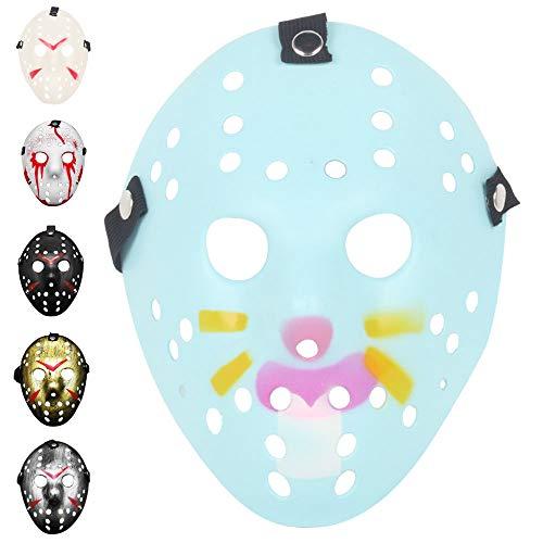 Horror Mask Thicken Freddy VS Jason Theme Mask Cosplay Horror Resin Cos Dress Up Street Dance Hallow