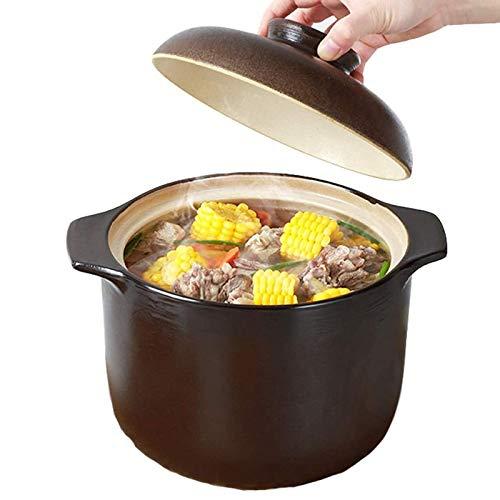 GWXLD Cazuela, MultifuncióN Cacerola Cocina Casa CeráMica Guisada Cazuela, Apto para Estofado Sopa Fideos