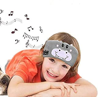 Number-one Kids Headband Headphones, Wireless Sleep Headband Earphones with Microphone, Children's Music Sleep Eye Mask, U...