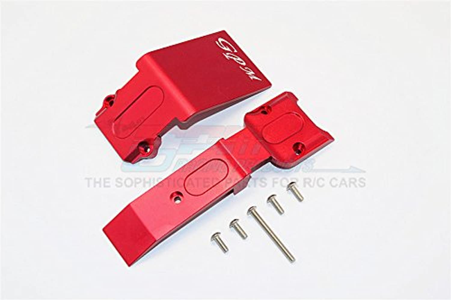 Traxxas E-Revo Brushless Edition Upgrade Parts Aluminum Front Skid Plate - 2Pcs Set Red