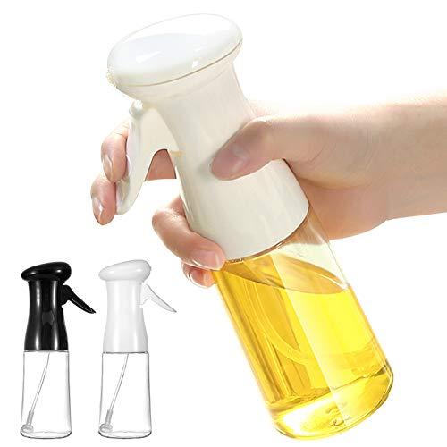 NXACETN Olivenöl-Sprühgerät zum Kochen, Küche 210ml Olivenöl Sprayer Sprühflasche zum Kochen BBQ Spray Backen Braten Grillen Salat Braten Black