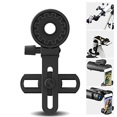 Adaptadores fotográficos para Prismáticos, Monoculares, Telescopios Terrestres, Telescopios Astronómicos, Microscopios. Compatibles con Cualquier Smartphone, Ideal para Capturar Tus Aventuras