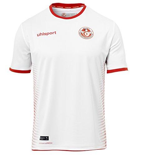 uhlsport Herren Tunesien Heim Shirt, weiß/Rot, S