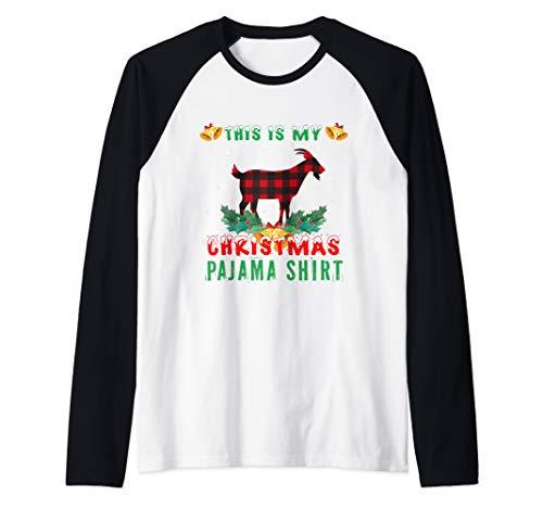 This Is My Goat Christmas Pajama Shirt Goatmas Goat Lovers Raglan Baseball Tee