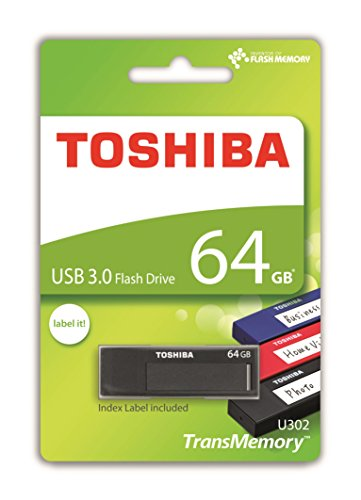 Toshiba THN-U302K0640MF TransMemory U302 64GB USB 3.0 schwarz/leer