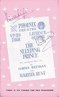 Sleeping Prince Play Cast - Program Signed 11/05/1953 co-signed by Vivien Leigh, Laurence Olivier