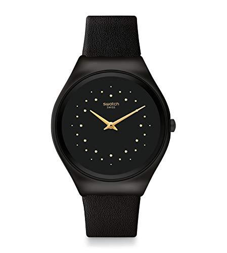 Swatch Reloj Unisex Adulto de Cuarzo analógico con Correa en Cuero Genuino SYXB102
