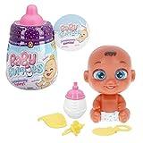 Baby Buppies - Biberón Sorpresa con complementos bebé muñeco, biberón, sonajero, chupete, babero, guía de cuidados y certificado de nacimiento Juguetes niños 3 años