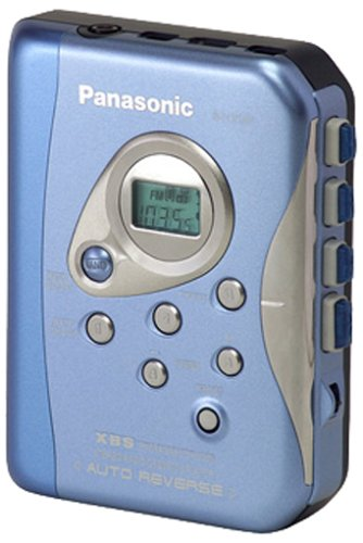 Panasonic RQ-CR 18 Veg-A tragbarer Kassettenspieler blau