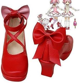 コスプレ靴◆魔法少女→鹿目まどか コスプレ用ブーツ