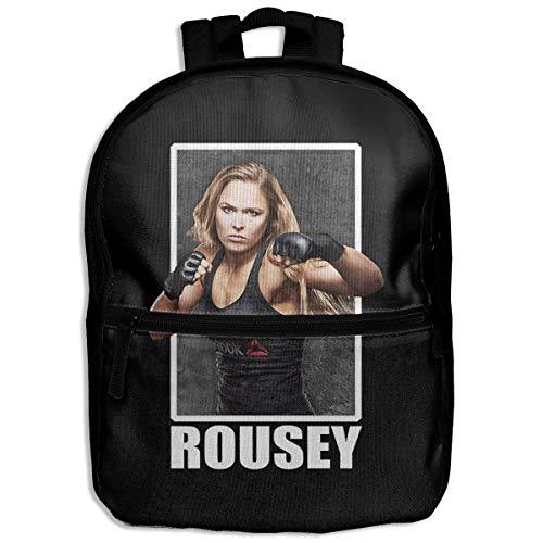NJIASGFUI Kinder Rucksack Ronda Rousey UFC 190 Rowdy Schulrucksack Wandern Reisen Schulrucksack Student Daypack für Jungen Mädchen