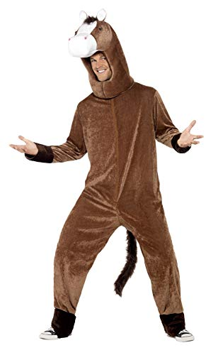Smiffys mens Horse Costume,Brown,One Size