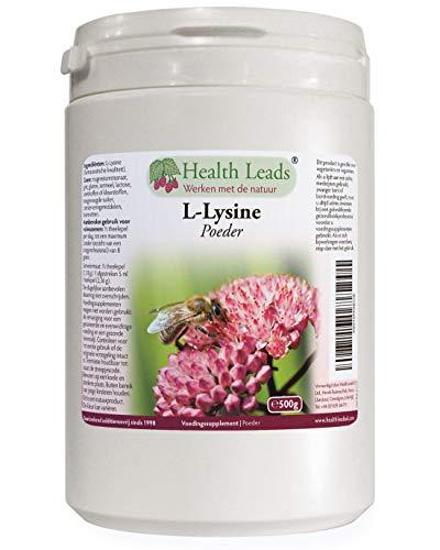 Hoogwaardig L-lysine poeder 500g farmaceutische kwaliteit, niet genetisch gemodificeerd, geen magnesiumstearaat, additieven of vulstoffen, zorgvuldig verkregen ingrediënten, gemaakt in Wales