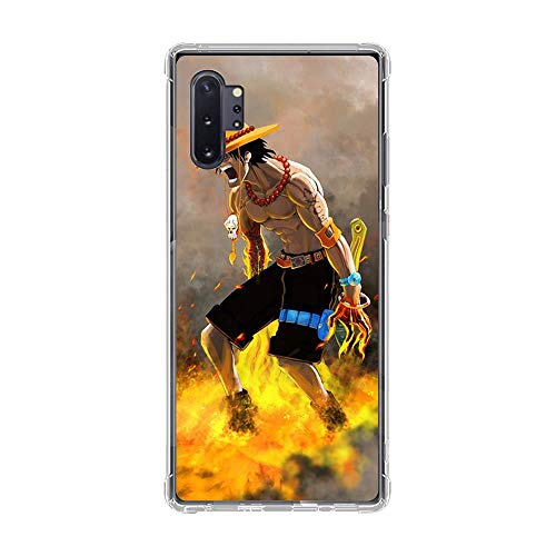 Be-better Case for Samsung Galaxy Note 10 PRO, One-Piece Anime-Luffy 8 Ultra Clear Coque Thin Soft TPU Rubber Anti-Slip Phone Cover