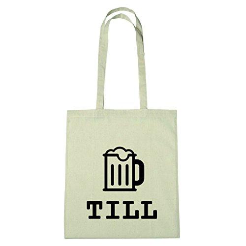 JOllify Baumwolltasche - Happy Birthday für TILL - Bier Gruß