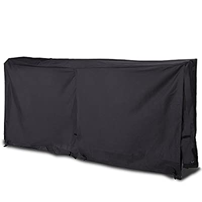 CO-Z Firewood Log Rack Cover 8 Feet 600D Oxford Cloth Outdoor Use Waterproof (Rack Cover Black)