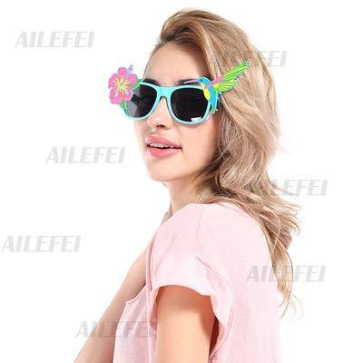 ZTFay Neuheit Brille Lustige Brille Kaufen Sie eine und erhalten Sie DREI kostenlose Sonnenblumen- und Kolibri-Brille Party Prom Brille Party Funny