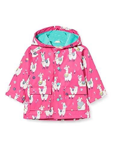Hatley Printed Raincoat Abrigo para lluvia, Alpacas bonitas, 12-18 meses Bebé-Niñas