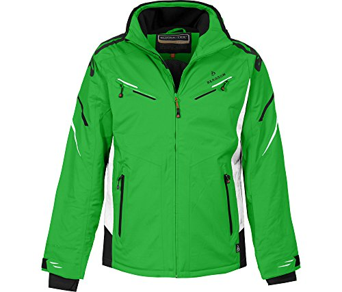 Bergson Herren Skijacke District, Classic Green/White [2210], 52 - Herren