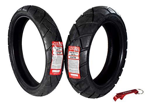 Kenda Big Block Paver Dual Sport Motorcycle Tires 120/70B19 Front 150/70B17 Rear 120/70-19 150/70-17